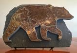 Water Jet Slate Art Rocky Mountain Grizzly Bear
